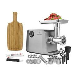 ChefWave 1800W Electric Meat Grinder Max 3-Speed, Stainless