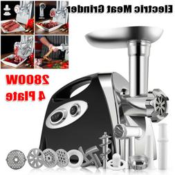 2800W Electric Meat Grinder Stuffer Commercial Stainless Ste