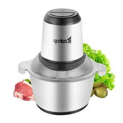 ZOKOP 2L Automatic Meat Grinder Household Mincer Chopper Foo