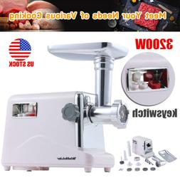 3200W Powerful Commercial Electric Meat Grinder Sausage Make