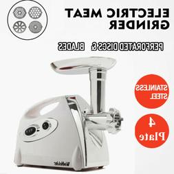 Commercial Stainless Steel Electric Meat Grinder W/Useful At