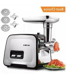Electric Meat Grinder, ALTRA Stainless Steel Meat Mincer & S
