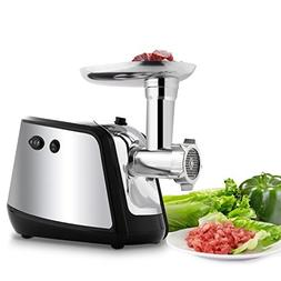 Rampmu Electric Meat Grinder with 3 Stainless Steel Grinding