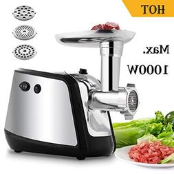Electric Meat Grinder 1000W Max, Meat Mincer with 3 Grinding