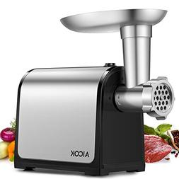 Electric Meat Grinder, Aicok Stainless Steel Meat Mincer & S