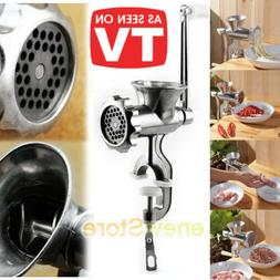 Heavy Duty Manual Meat Grinder Mincer Cast Iron Table Hand C