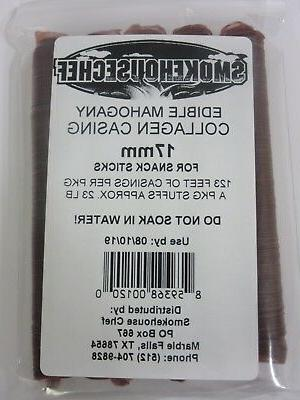 17mm for 23 lbs Edible Collagen Slim Jims sausage