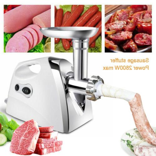 Electric Grinder Commercial Sausage Maker Stainless 2800W