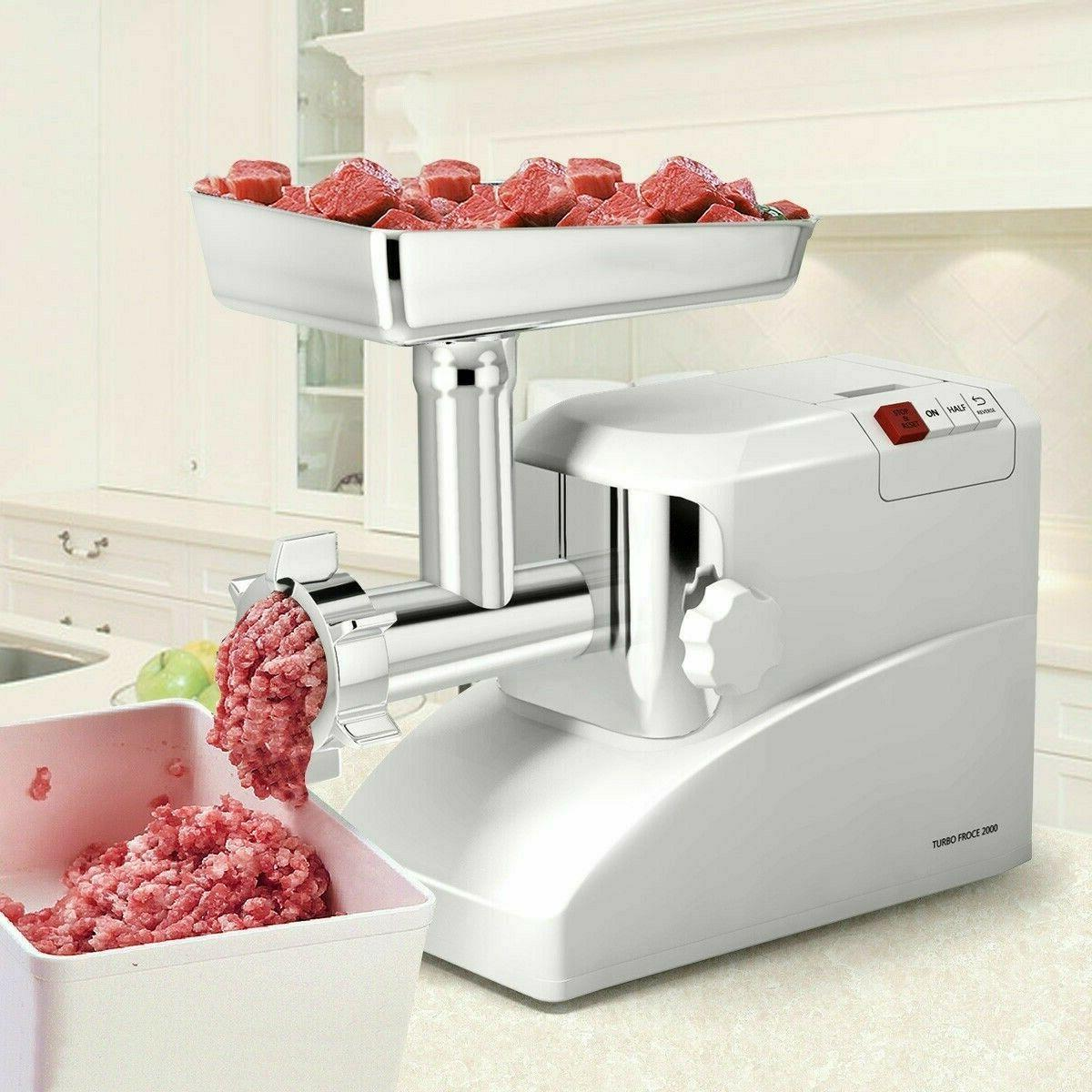 electric meat grinder with 3 blades 2000