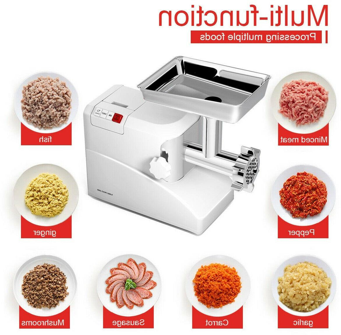 Electric Meat Grinder With 3 Multi Purpose Attachments New