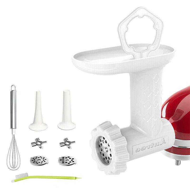 Antree Meat Grinder Attachment for KitchenAid Stand Mixers Include Sausage Tube