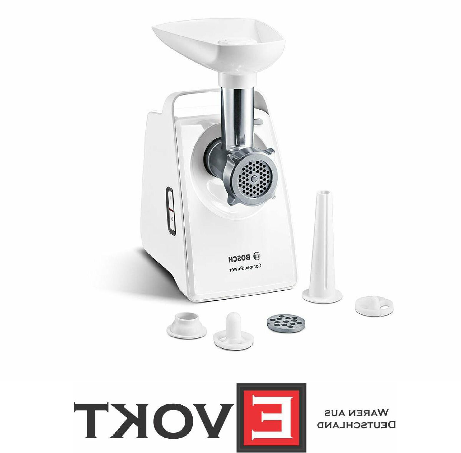 mfw3520w compact power electric meat mincer white