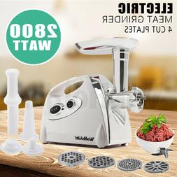 Luxury White Electric Meat Grinder Mincer Sausage Stuffer St