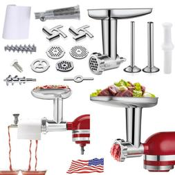 Meat Grinder & Tomato Juicer Attachment For KitchenAid Stand