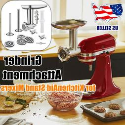 Metal Food Meat Grinder Attachment for KitchenAid Stand Mixe
