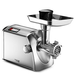 Magic Mill MMG-3001 Stainless Steel Electric Meat Grinder &