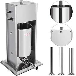 Happybuy Sausage Filler 7L Vertical Stainless Steel Commerci